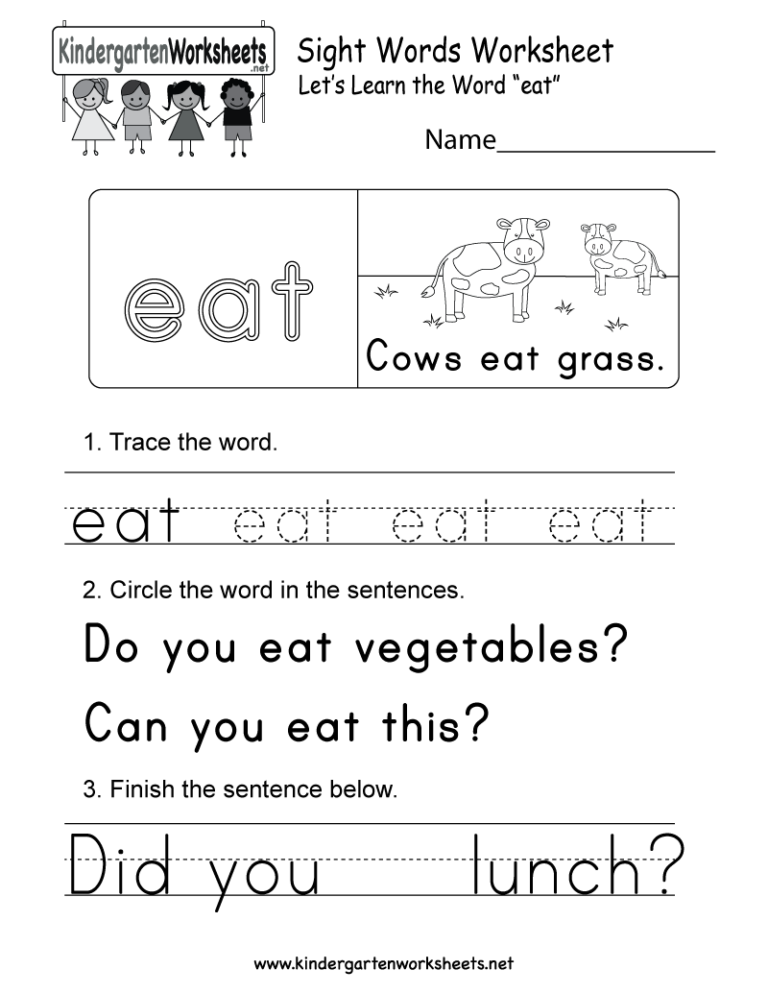 Free Sight Word Coloring Pages Picture Ideas For Kids