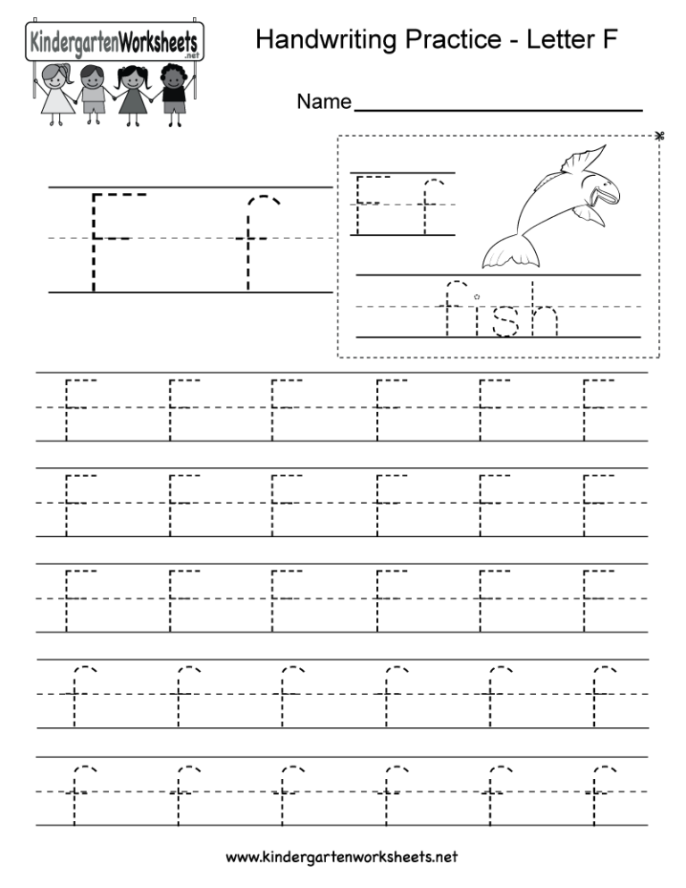 Letter F Writing Practice Worksheet. This Series Of