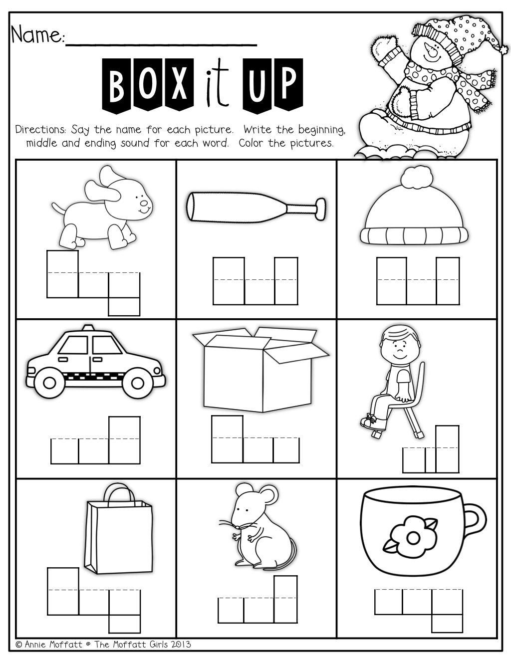 Box Up The Words Soundsound! Perfect For Kids Who Are