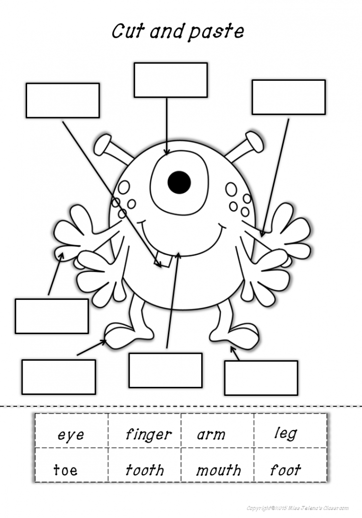 Collection Of Worksheet For Kindergarten Parts Of The Body