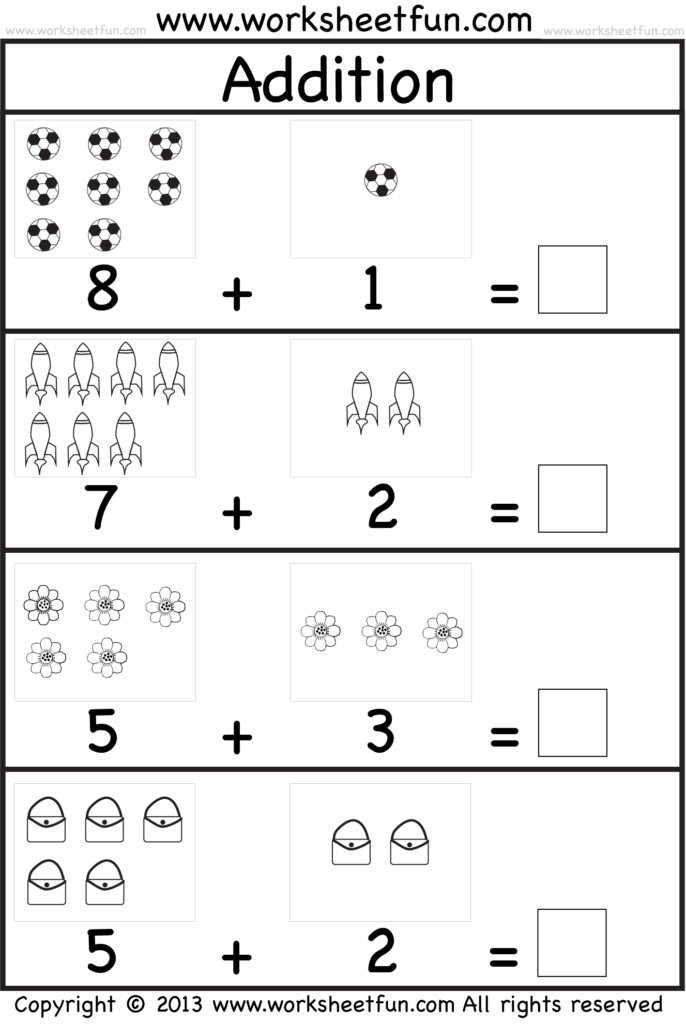Coloring Pages Kindergarten Picture Addition Beginner