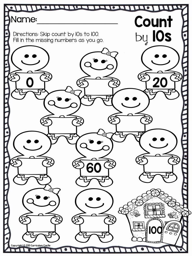 Counting By 10a Worksheet For Kindergarten Servicenumber
