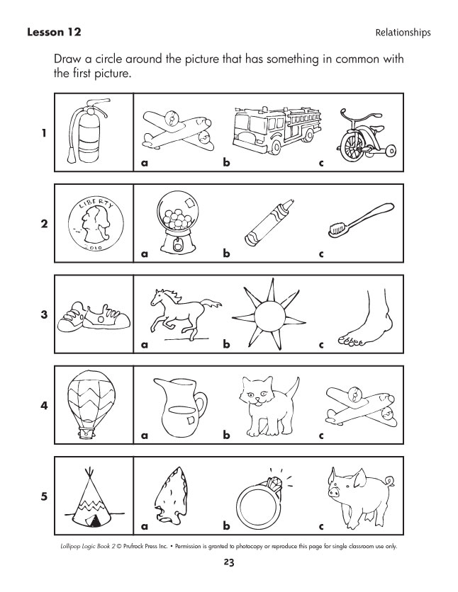 Critical Thinking Pre K Worksheets