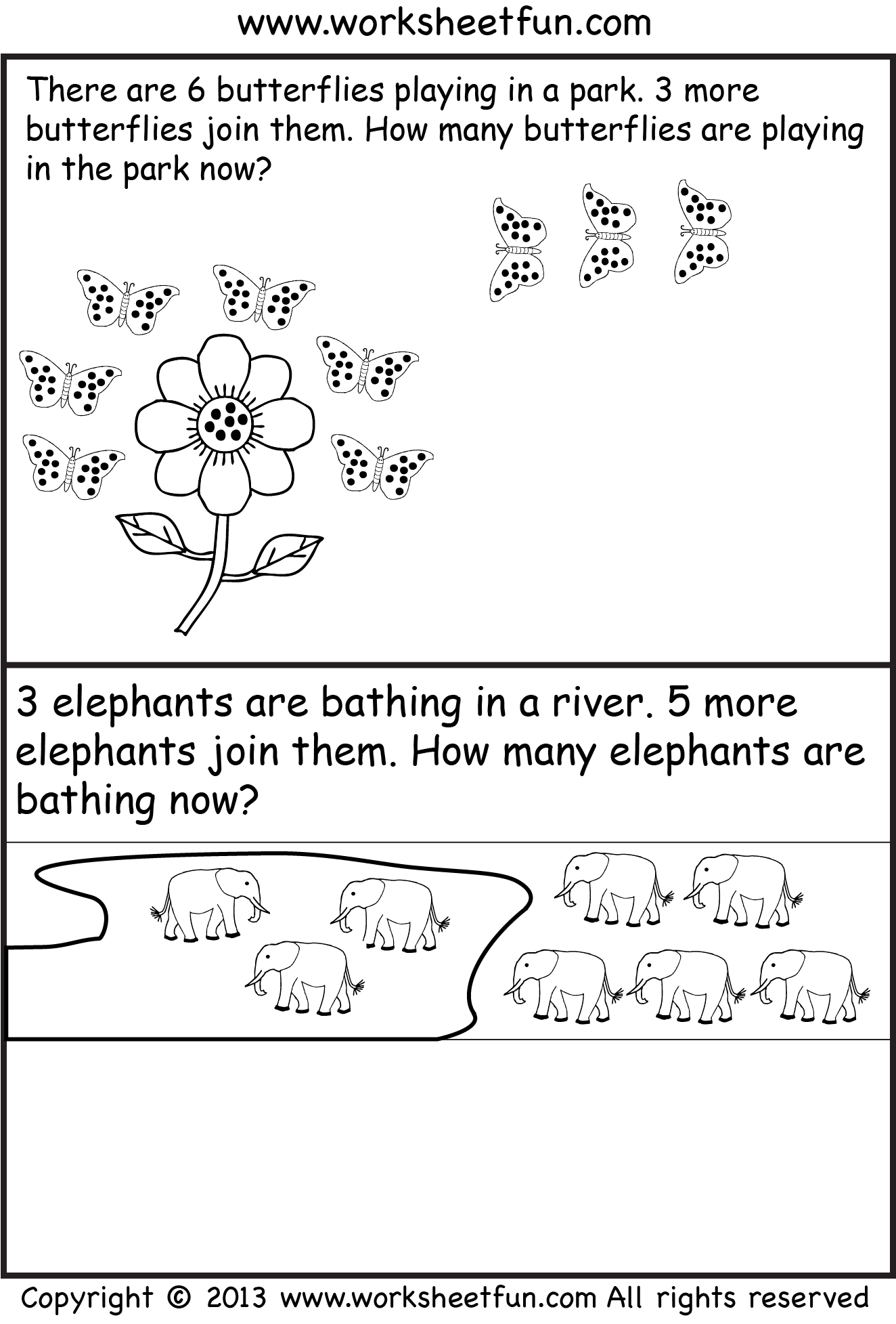 Free Printable Kindergarten Story Math Problems Picture