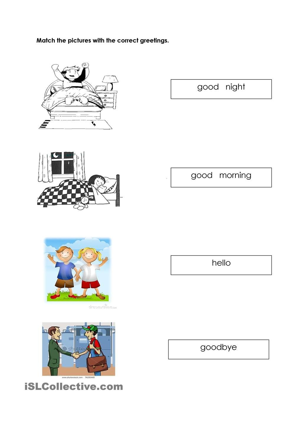 Greetings Worksheets For Kids English Worksheets For