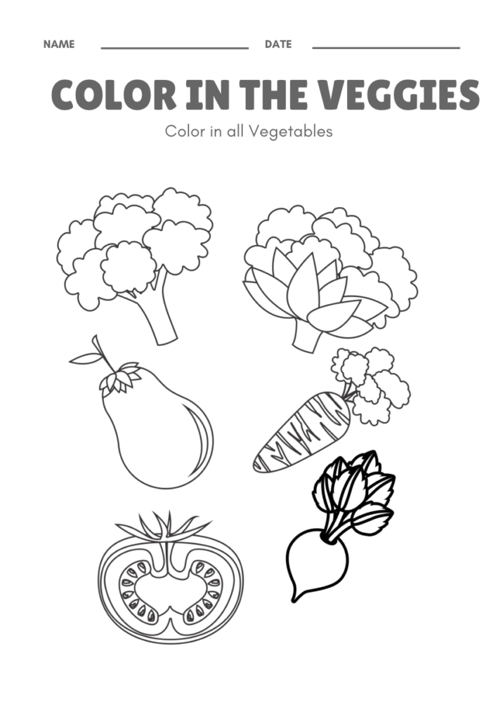 Kids Free Vegetables Themed Activities And Craft