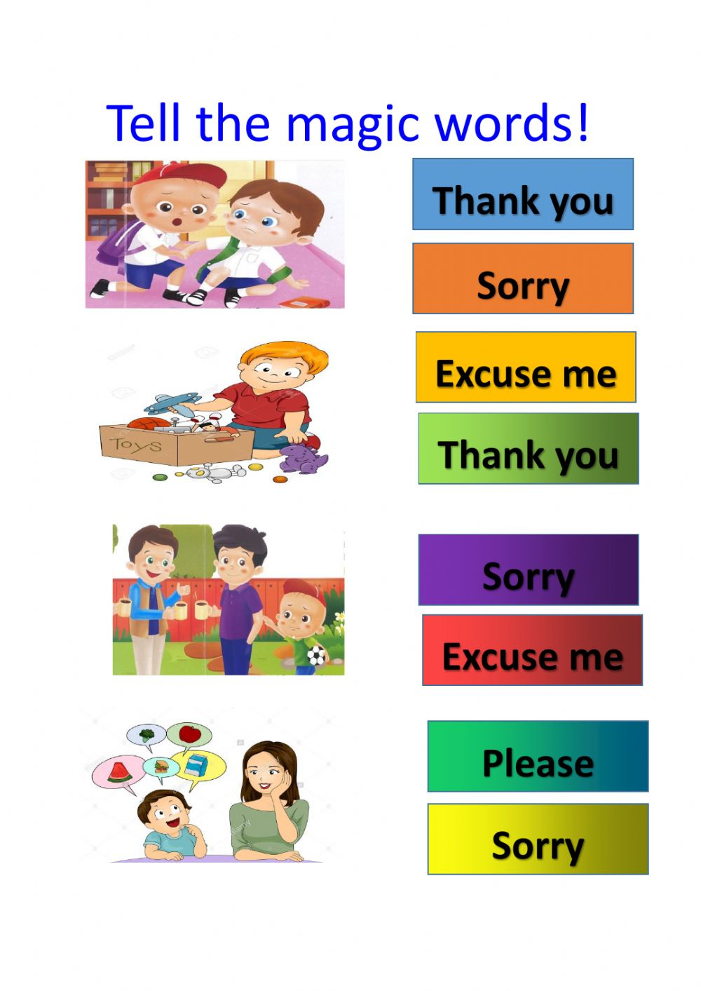 Polite Expressions Interactive Worksheet