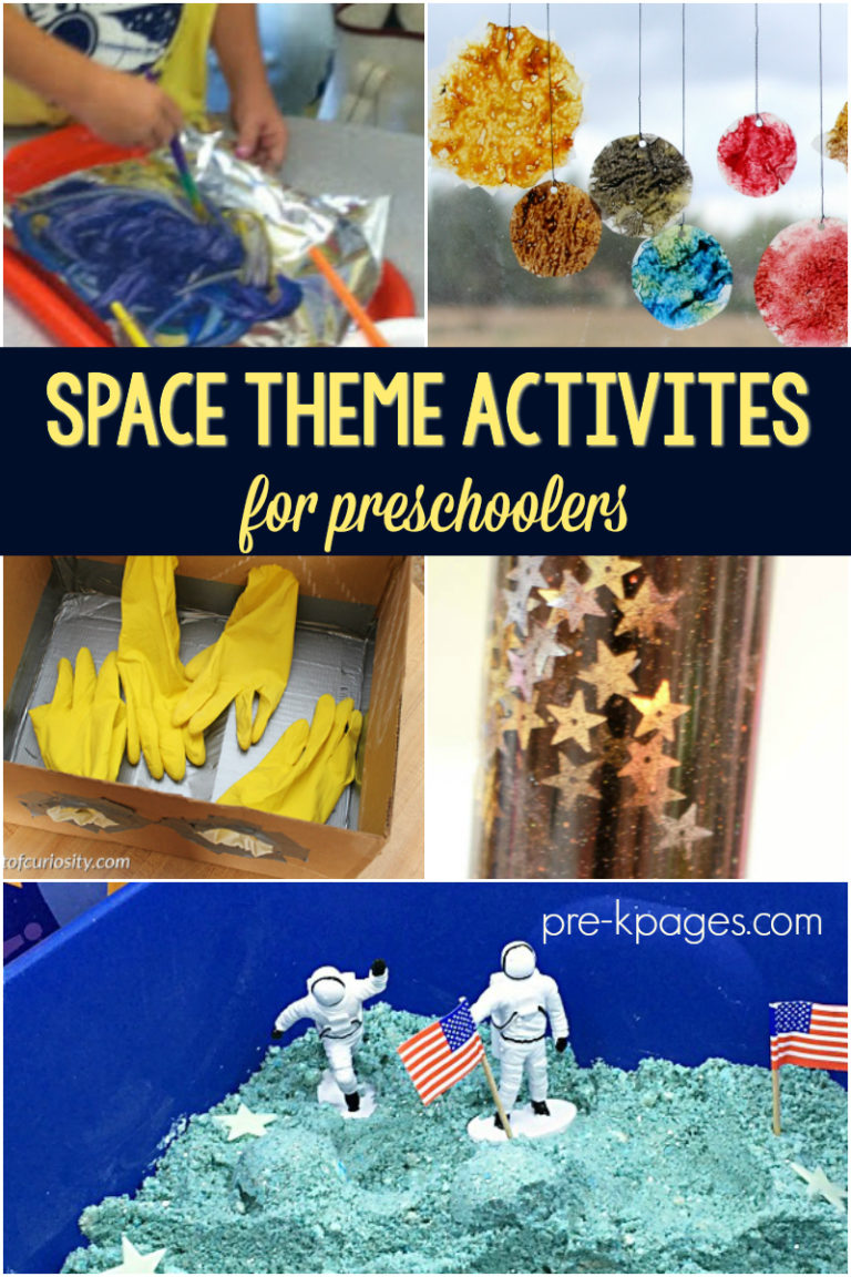Space Theme Activities For Preschoolers Pre K Pages
