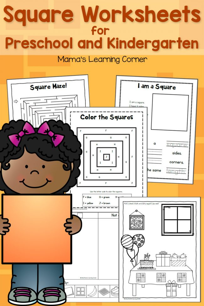 Square Worksheets For Preschool And Kindergarten Mamas